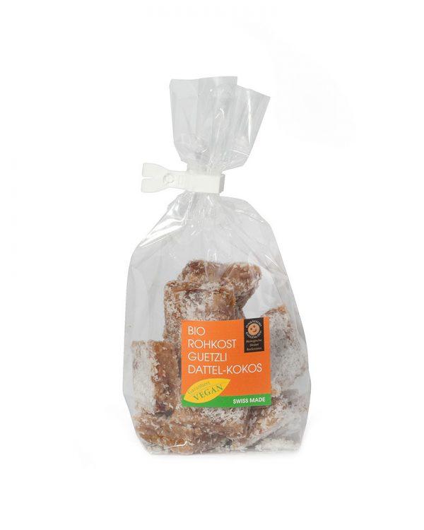 Rohkostguetzli Dattel-Kokos –Feinbäckerei Guggenloch