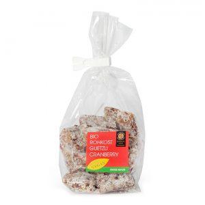 Rohkostguetzli Cranberry –Feinbäckerei Guggenloch