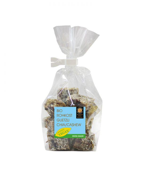Rohkostguetzli Chia-Cashew –Feinbäckerei Guggenloch