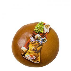 Biber rund mit Mandelfüllung und Chlausbild – Feinbäckerei Guggenloch
