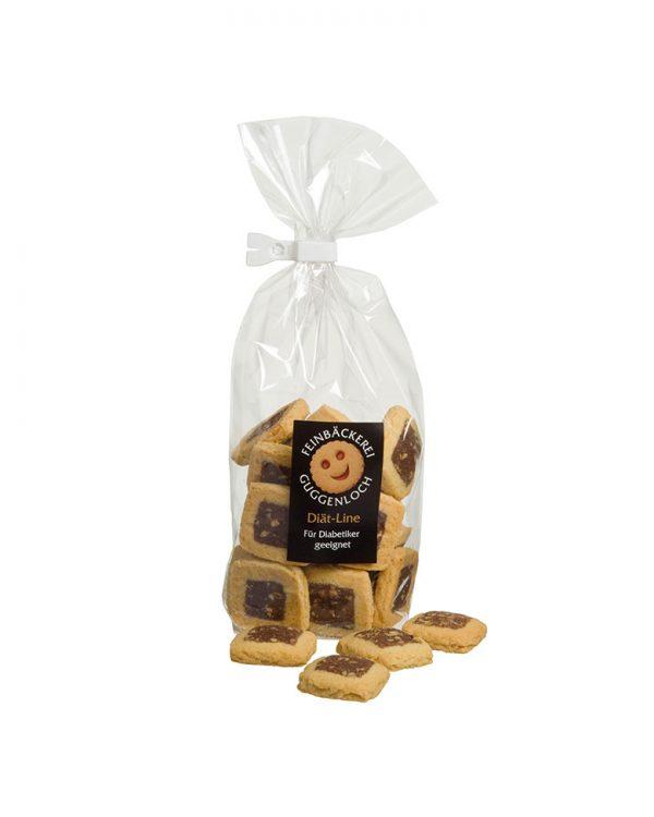 Diät-Butter-Nuss-Quadrate –Feinbäckerei Guggenloch